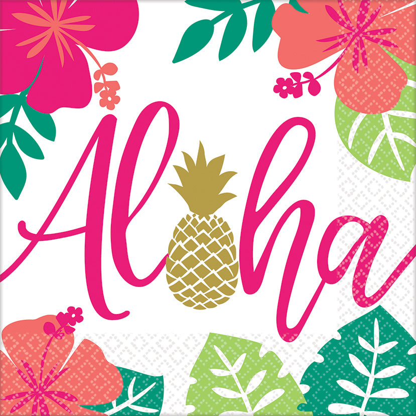 ALOHA LUNCH NAPKIN, 16pcs - House of Party Kenya