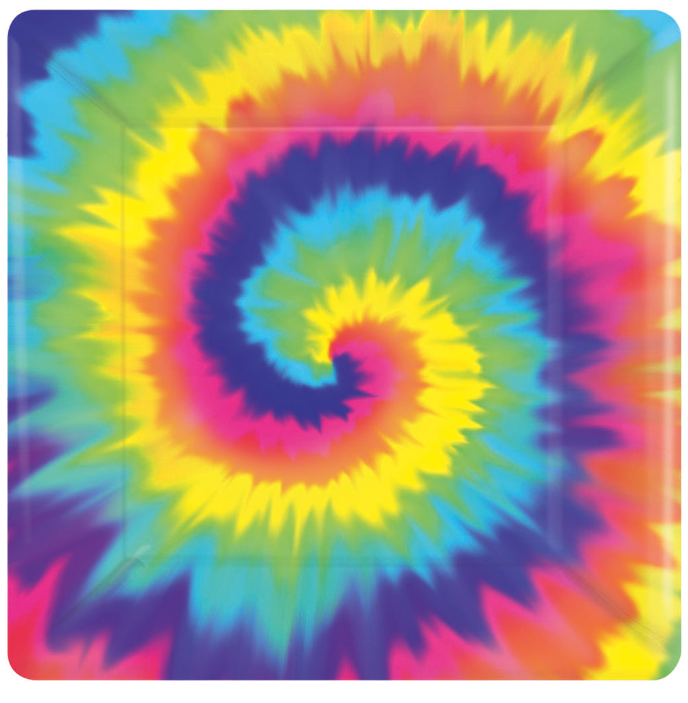 FEELING GROOVY SQUARE PLATE 7IN, 8PCS - House of Party Kenya