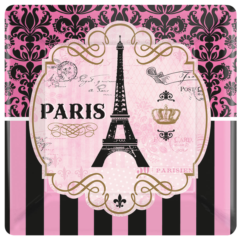 DAY IN PARIS 7INCH LARGE SQUARE PLATE - House of Party Kenya
