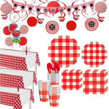 AMERICAN SUMMER RED GINGHAM LUNCH NAPKIN WESTERN - House of Party Kenya