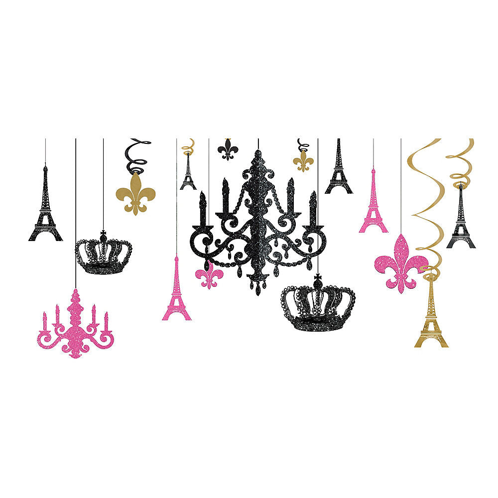 DAY IN PARIS GLITTER CHANDELIER KIT - House of Party Kenya
