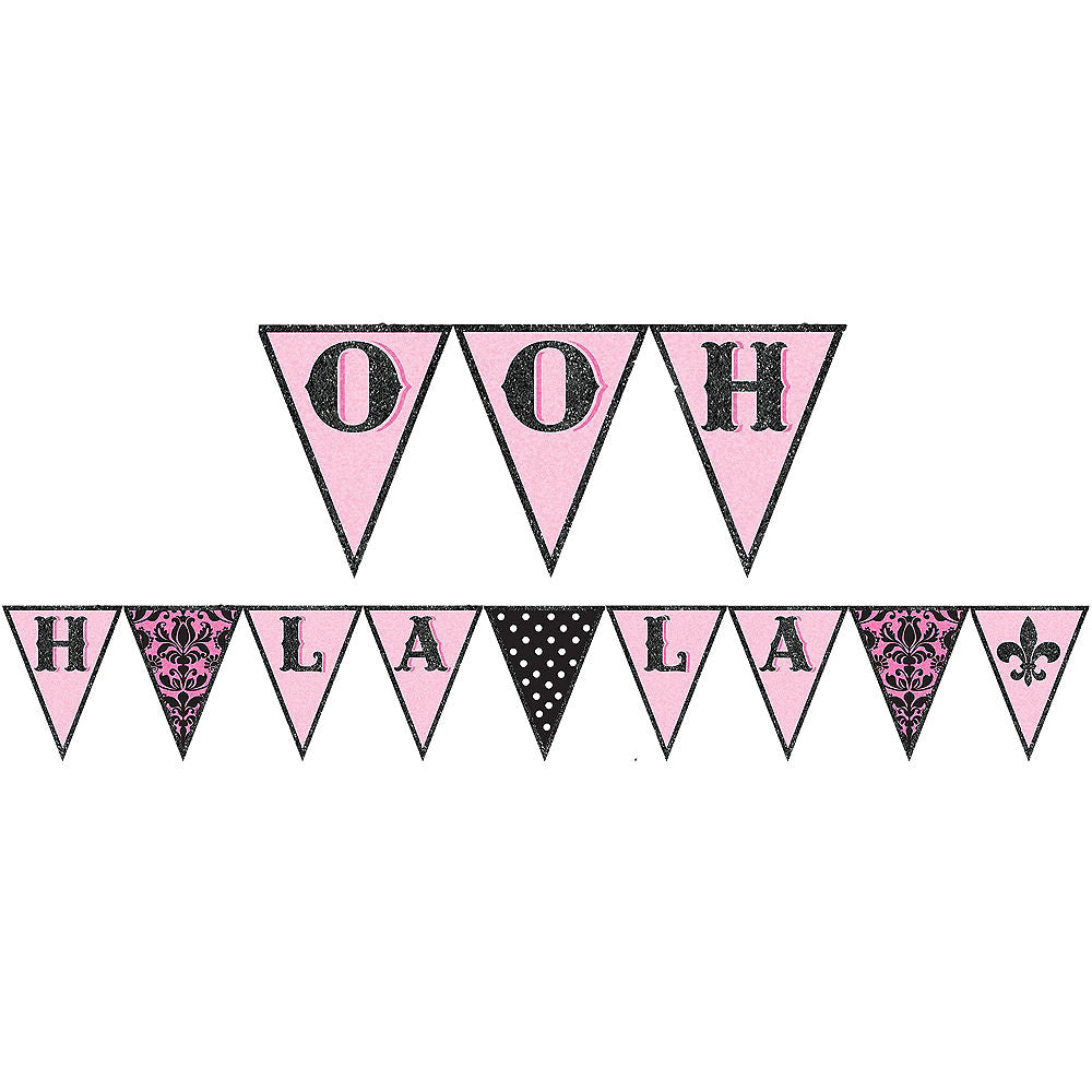 DAY IN PARIS FABRIC PENNANT BANNER - House of Party Kenya
