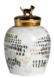 Binary Jar with Gold Lid