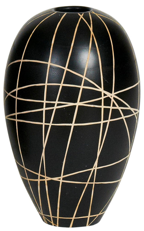 Branches Oval Wood Vase