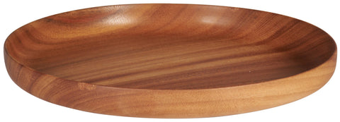Wooden Plate Rounded Raised Edge