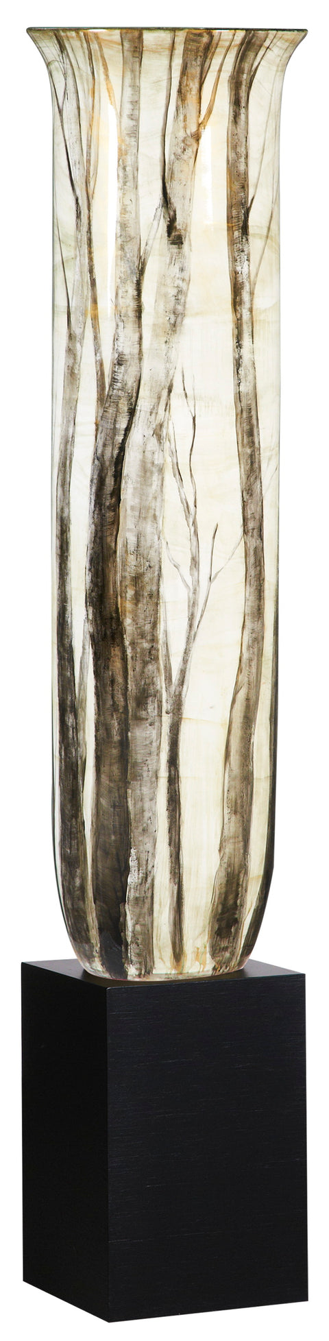 Grand Birch Branches Vase on Stand
