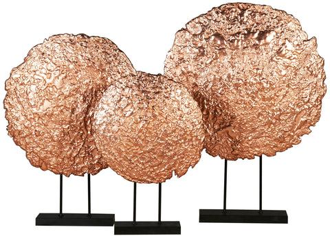 Coral Disc Sculpture on Stand