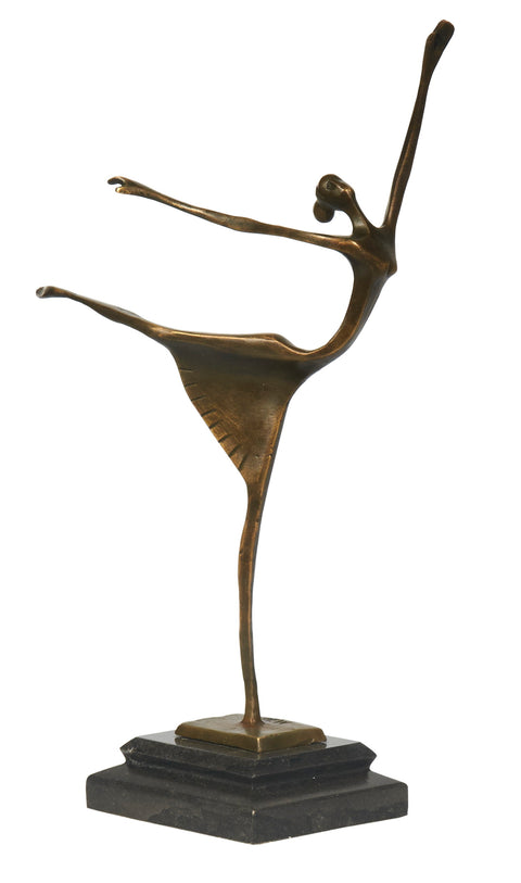 Copper dancing lady sculpture