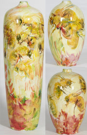 Bees Small Neck Vase