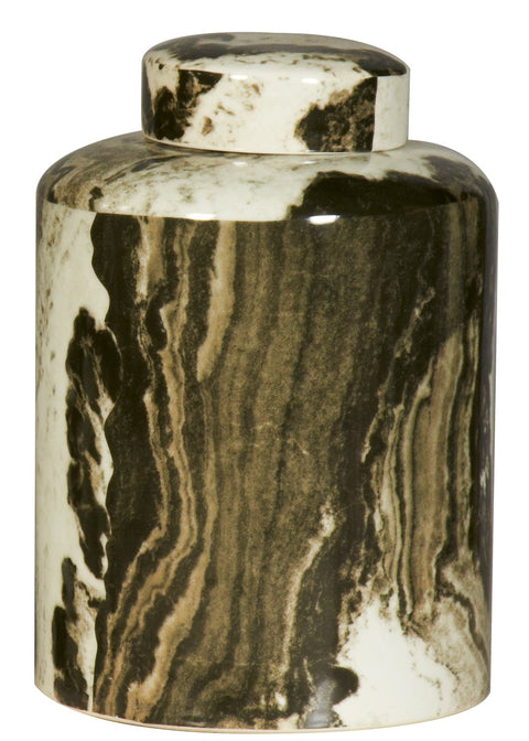 Malachite Lava Jar with Lid