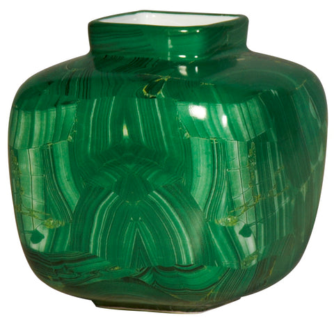 Malachite Square Vase