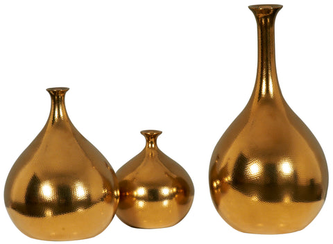 Gold Droplet Vase