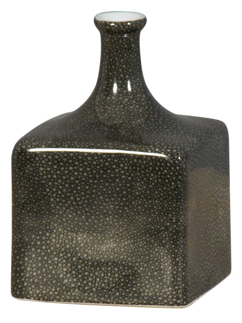 Shagreen square bottle Vase (S)