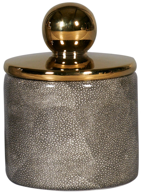 Shagreen Gold Lid Jar