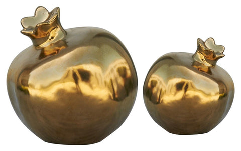 Golden Pomegranate Sculpture