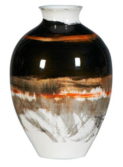 Stripe Orange Vase