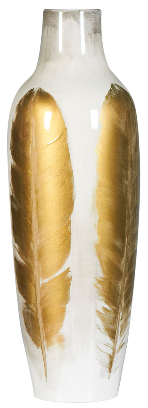 Gold Feather Vase