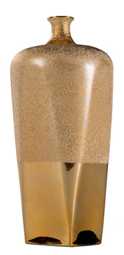 Gold Bottle Neck Vase