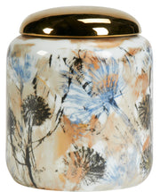Floral Gold Lid Jar