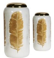 Gold Feather Jar