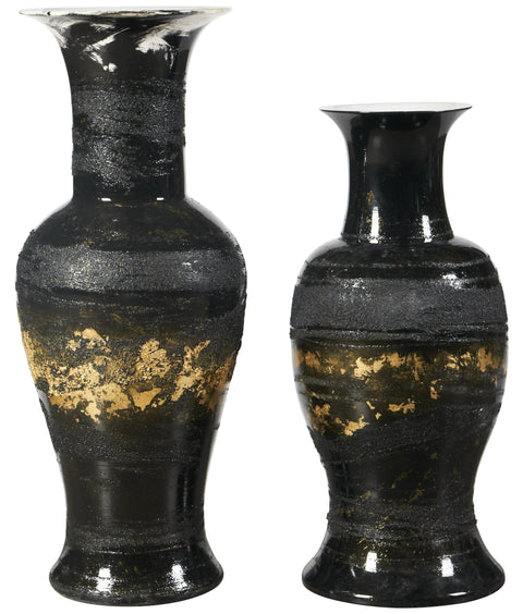 Guilded Textured Vase