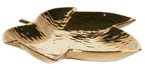 Golden Sycamore Leaf Plate