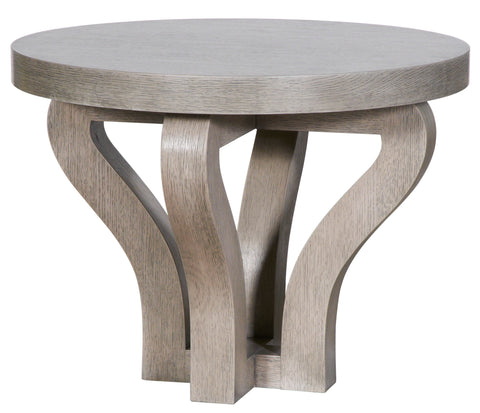 Bowed Grey Wash Occasional Table
