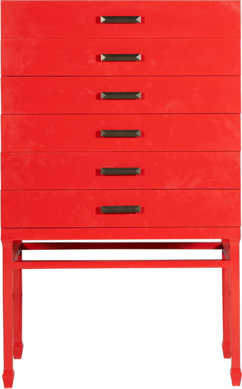 Lustrous Six Drawer Cabinet