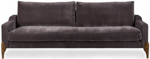 Lorreto Sofa Burnished Copper Legs Four Seater