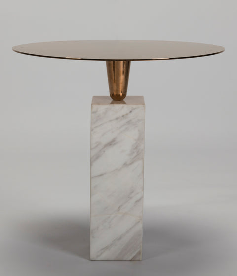 Knightsbridge Marble and Copper Drinks Table