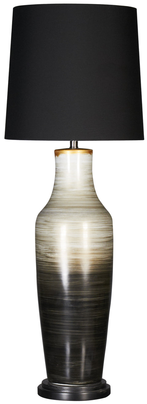 Whirl Black Tan Lamp