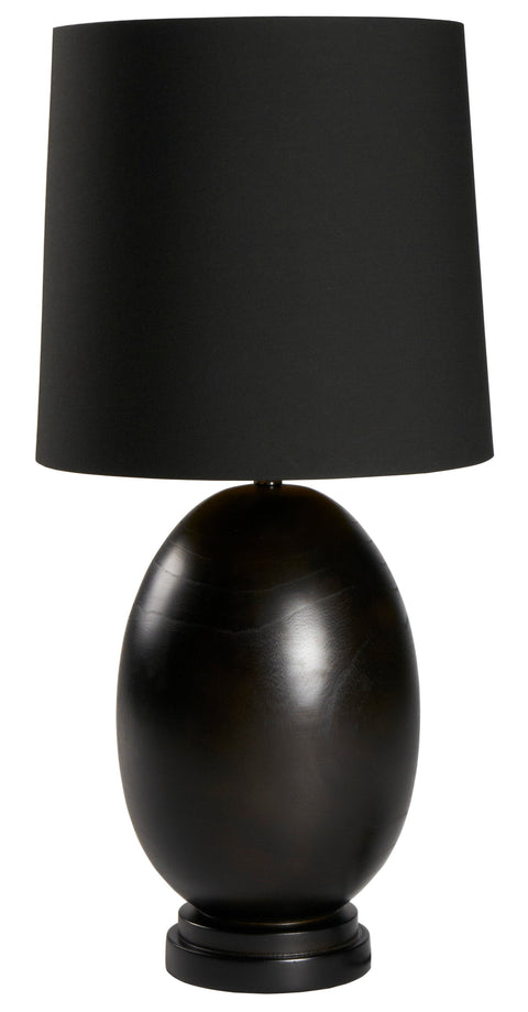 Rounded Wood Lamp