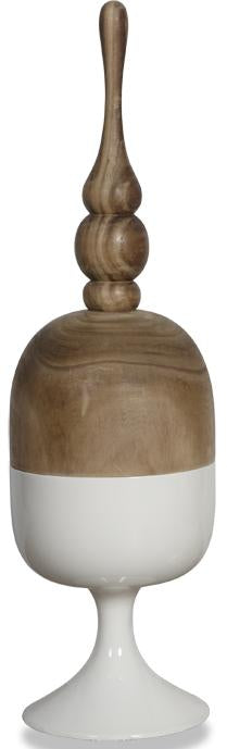 Finial Container with Removable Lid