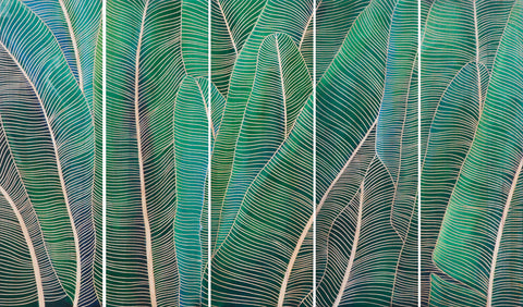Banana Leaves Wall Panels