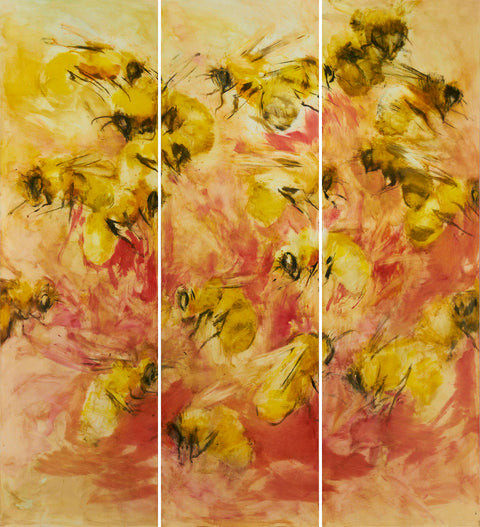 Flowers and Bees Wall Panels