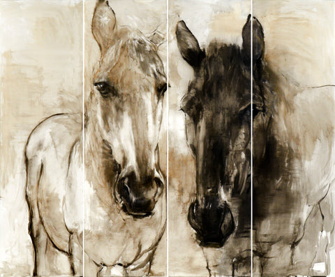 Couples : Horses on Wall Panel