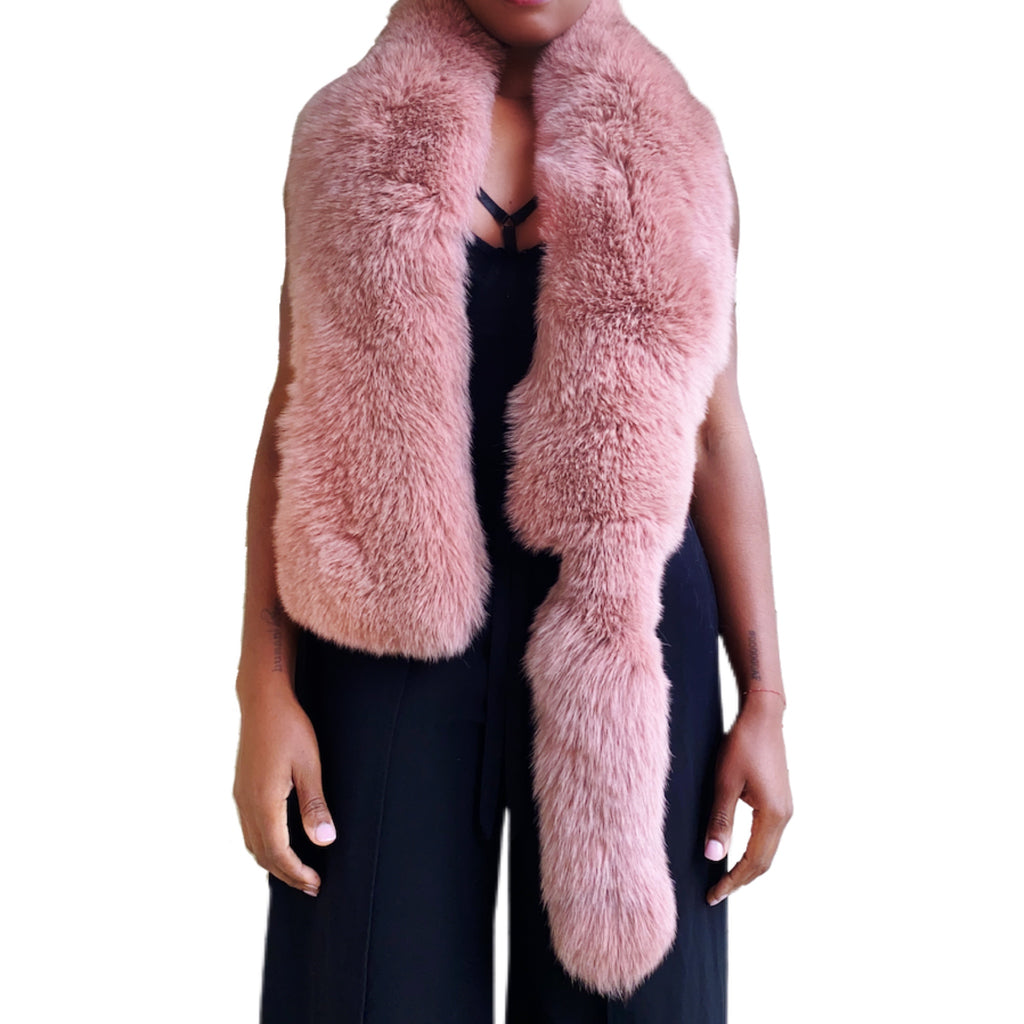 ROSE QUARTZ| FOX SCARF