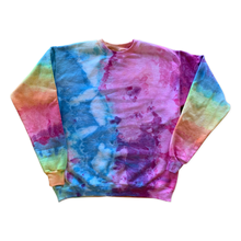 Load image into Gallery viewer, Rainbow Ice Dyed Crewneck Sweatshirt