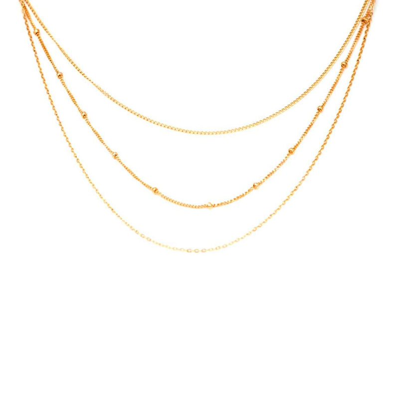 Triple Chain Everyday Layering Necklace - Mint Pop Shop