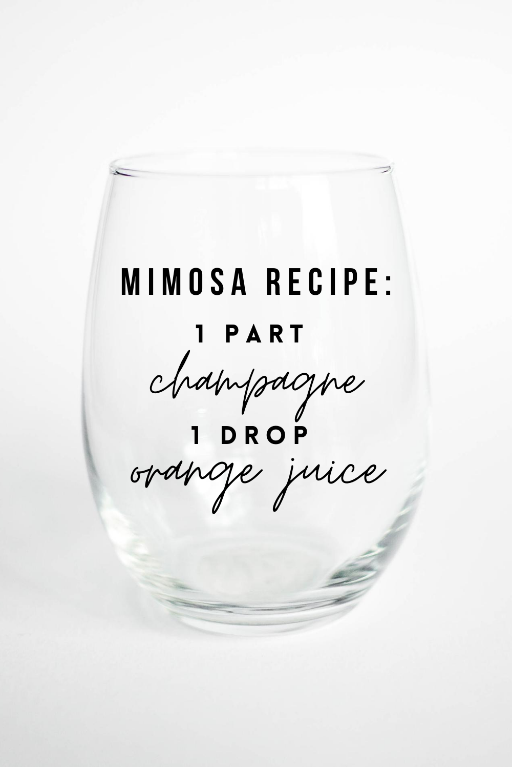 mimosa wine glass