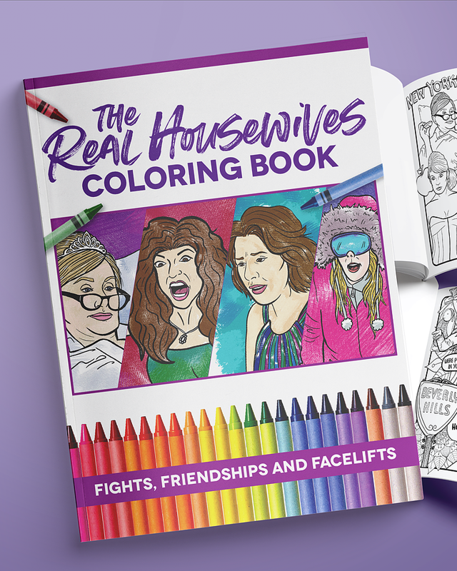 bravo tv gift coloring book
