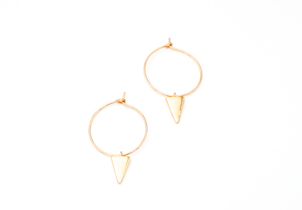 Mini Spike Hoops - Gold Filled