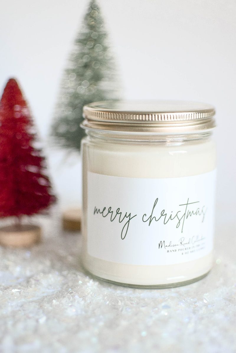 merry christmas candle gift