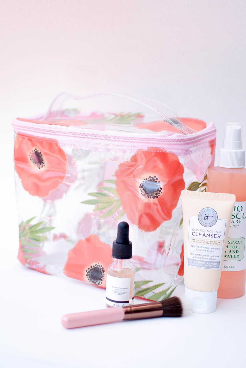 Poppies Makeup Travel Caddy - Mint Pop Shop