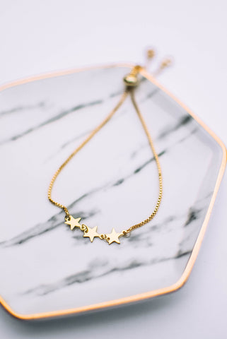 Phlox Pressed Flower Necklace (Gold)