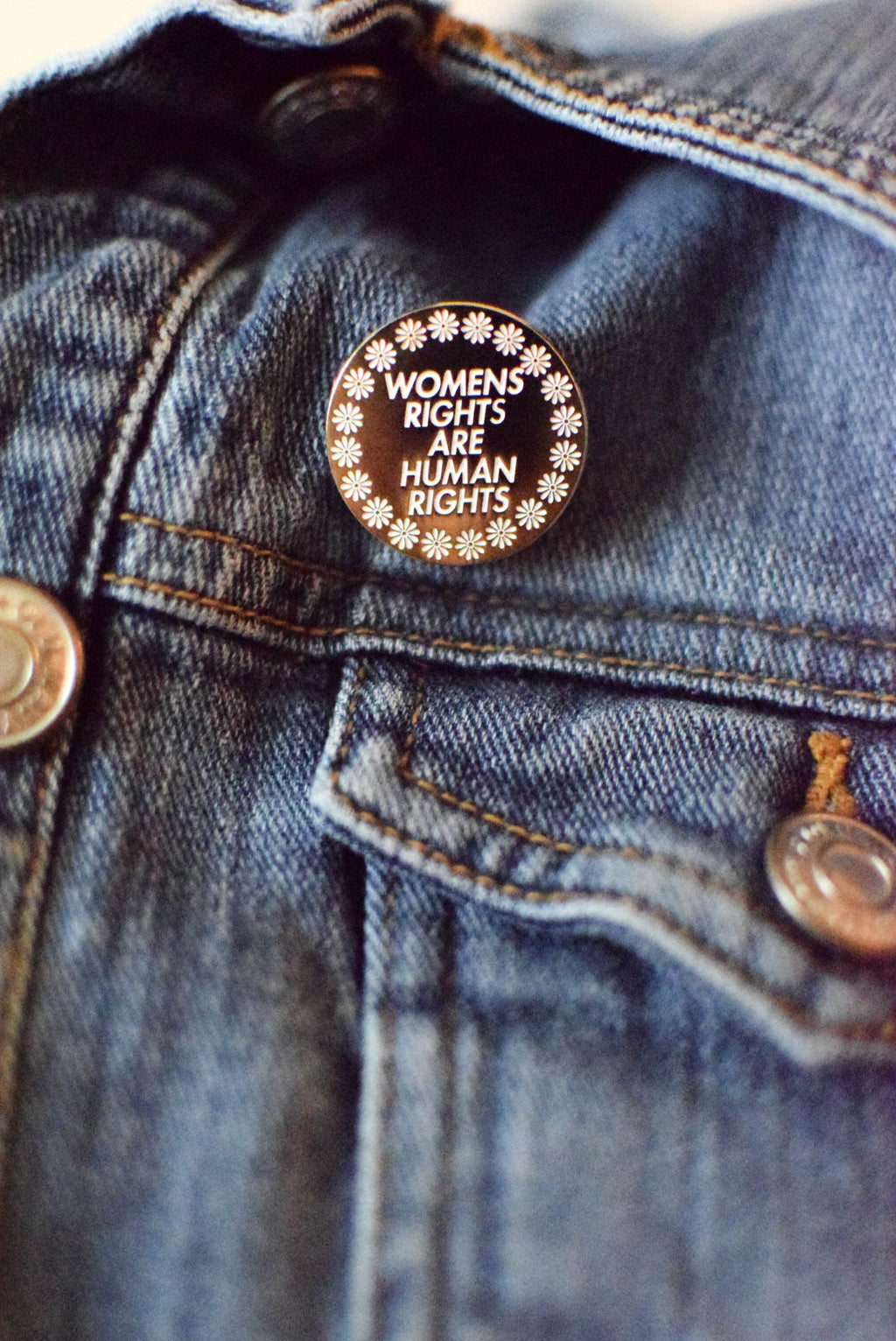women rights pin