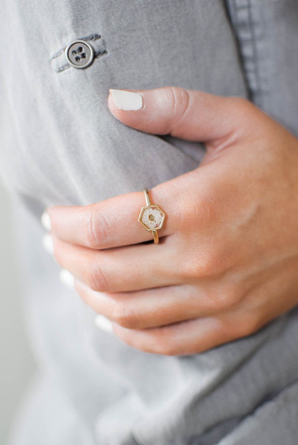 Antique Gold Flower Ring