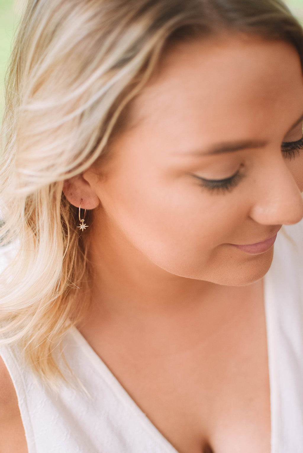 mini hoop gold filled earring