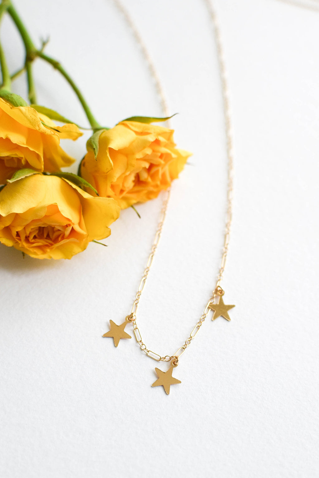 3 Wishes Star Necklace - Gold Filled