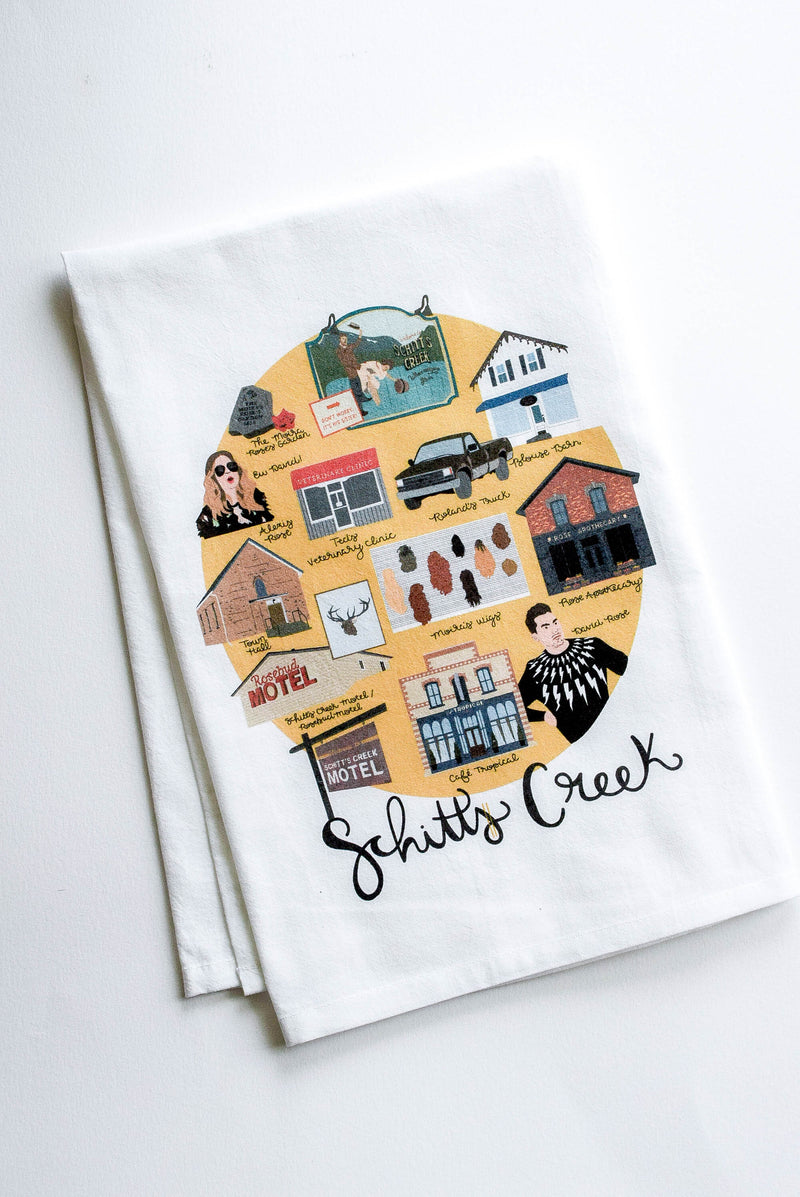 schitts creek tea towel